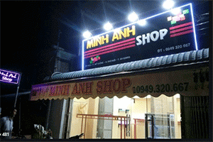 biển quảng cáo đèn led shop quần áo