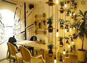 đèn led quán cafe