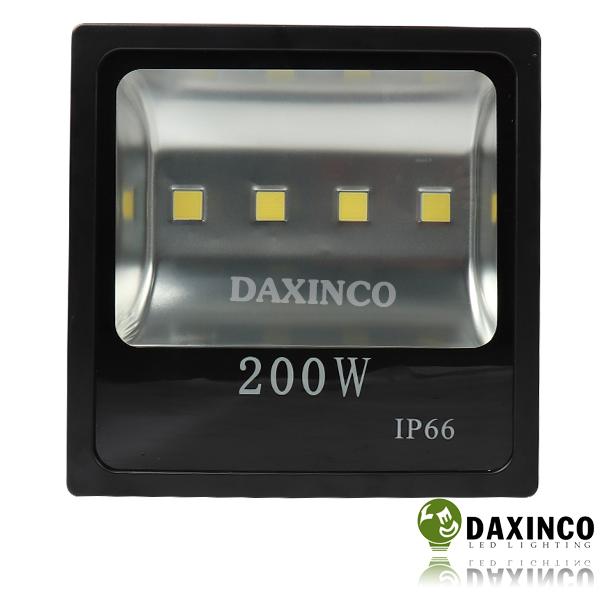 Đèn pha led 200w-2 Daxinco kiểu dẹp