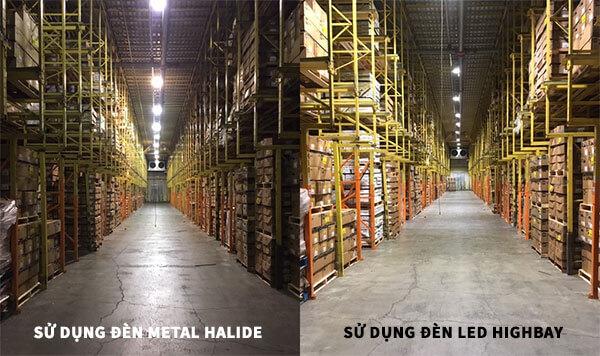 Trước và sau khi lắp đèn LED highbay