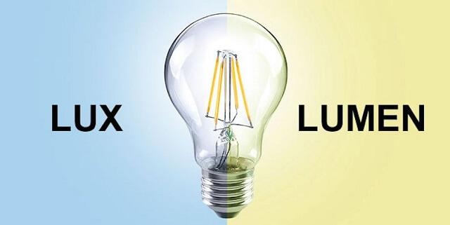 Hãy lưu ý phân biệt Lux và lumen